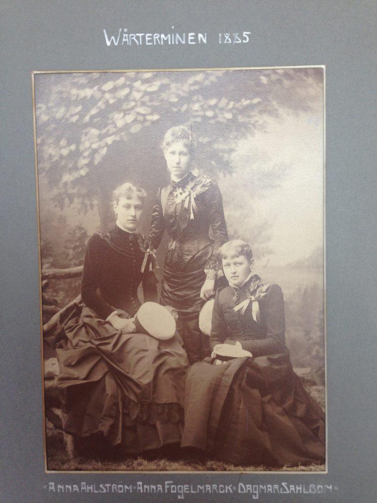 Anna Fogelmarck studentexamen 1885