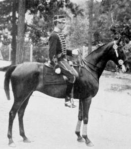 Axel Nordlander på Lady Artist vid OS 1912.