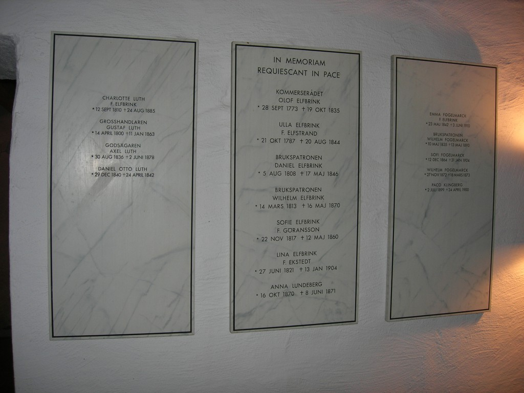 Namntavlor i Elfbrinks rum