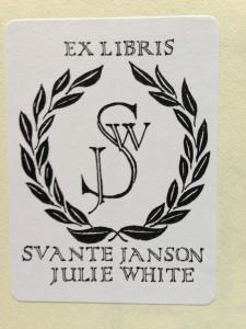 Exlibris Svante Janson Julie White