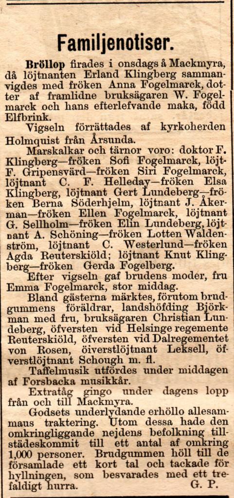 Ur Norrlandsposten 4/10 1895