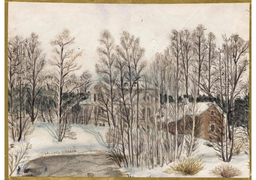 Sofiedals herrgård. Tavla märkt 1883.