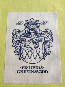 exlibris Gripensvärd
