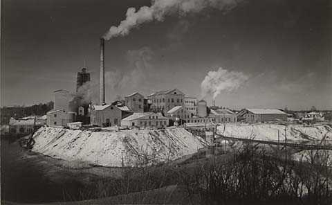 Mackmyra sulfitfabrik ca 1955